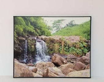 Waterfall photo-waterfall canvas-Hawaii waterfall-canvas photo prints-waterfall canvas-waterfall photo-8x10 canvas print-scenic photo-nature