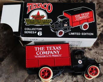NEW 1989 Texaco Ertl Coin Bank Replica 1925 Mack Bulldog Lubricant Truck, Collector Series #6, Limited Edition, Mint with box, Ertl Company