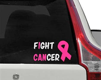 Fight Cancer Decal// Cancer Awareness// Cancer Decal