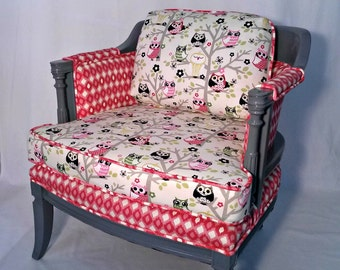 Owls and Diamonds Arm Chair