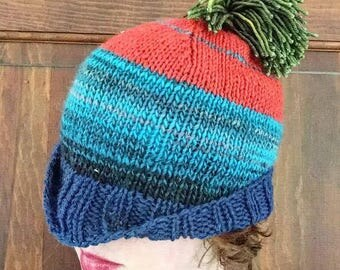 Knitted hat 100% wool