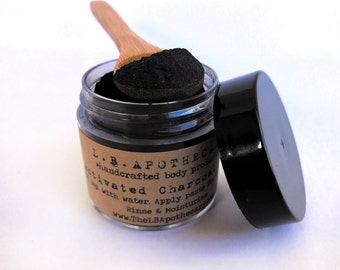 Activated Charcoal / Activated Charcoal Powder / Charcoal Mask / Clay Mask / Acne Soap / Acne Treatment / Bentonite Clay / Birthday Gift /