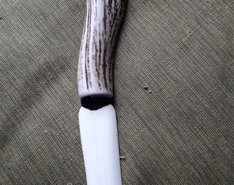 Bone knife or athame with deer antler handle