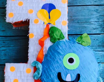 Monster pinata, monster theme party, monster decor