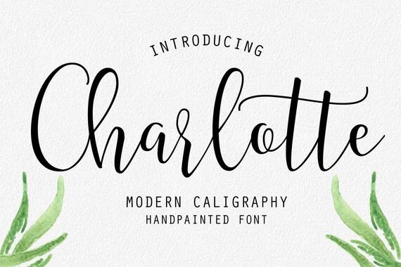 Handwritten font modern calligraphy wedding