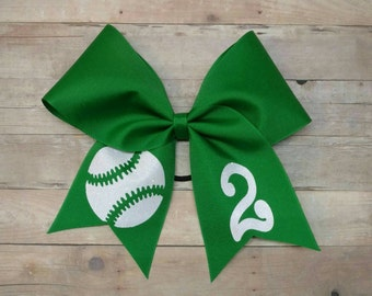 Custom Softball Hairbow,  Softball Bow,  YOU PICK COLORS, team softball bows, custom cheer bow, sports hairbow