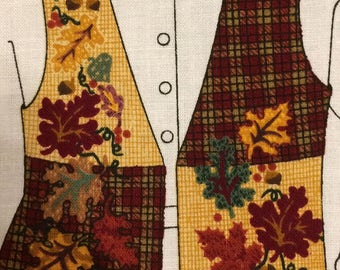 Fabric  panel  vest -Falling Leaves Vest dreamspinners by VIP.
