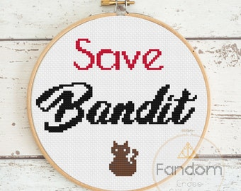 Save Bandit! The Office Cross Stitch Pattern PDF | Download | Geek Cross Stitch Pattern | Angela Quote Cross Stitch Pattern