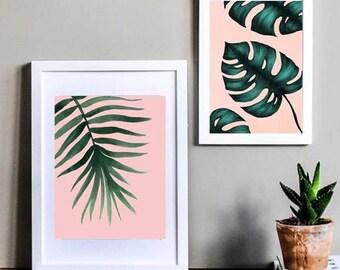 Pink leaf set
