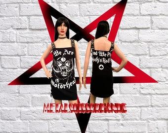 Motorhead - We are Mini Dress Handmade Skull Heavy metal Hard rock Lemmy Biker Rocker