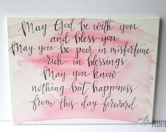 Irish Blessing Hand Lettered Canvas