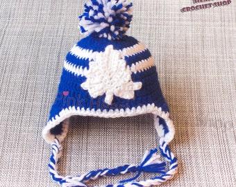 Toronto Maple Leafs Crochet baby Hat , Toronto hat , crochet baby cap , crochet , baby gift , Toronto maple leafs ,baby photography ,crochet