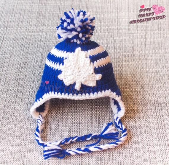 Toronto Maple Leafs Crochet baby Hat Toronto hat crochet