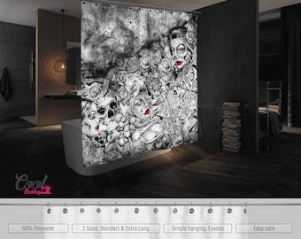Sugar Skull Bathroom | Sugar Skull Bathroom Etsy