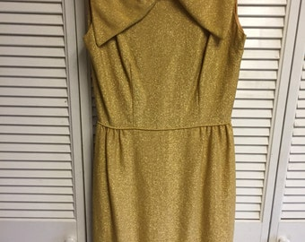 50's Shimmering gold dress