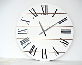 Rustic Kitchen Decor 20 Inch Large Wall Clock Wall Clock Wall Decor Wall  Clocks Big Wall