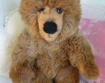 SALE!! Grizzly Bear, Steiff Bear, Fluffy tall, Brown Bear, Stuffed Animal