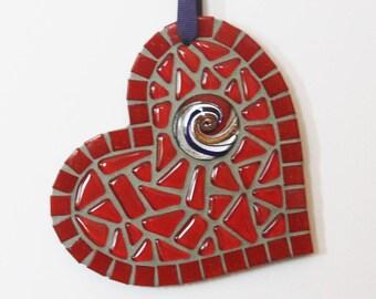 Handmade Mosaic Heart Ornament