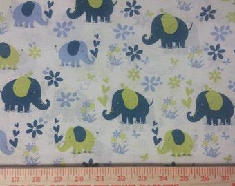 Elephant Fabric By The Yard Nursery Childrens Fabric