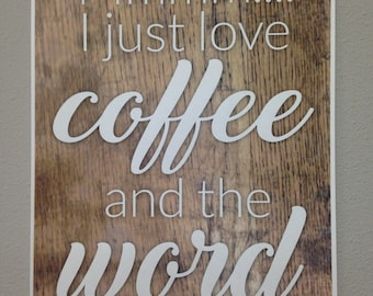 DIGITAL PRINT - Coffee and the Word