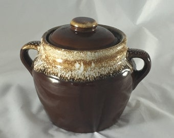 Drip Ware Bean Pot Cookie Jar w/Lid