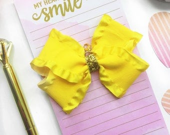 Yellow  Planner Charm/ Planner Charm / Yellow Bow Planner Charm