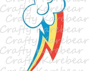 Rainbow Dash's Mark SVG and DXF Digital File Download