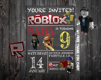 Roblox Themed Invitation Personalized Printable Custom Digital