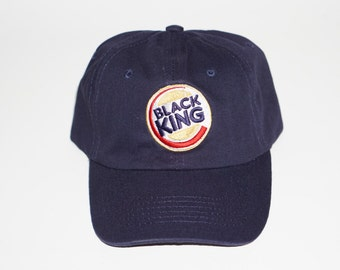 """Black King Dad Hat """"Navy"""""""