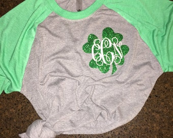 Personalized Women's St. Patrick's Day Shirt, St. Patrick's Day Shirt, St. Patty's Day Shirt, Women's Easter Shirt, Green Shirt, Clover