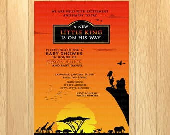 lion king baby shower  etsy, invitation samples