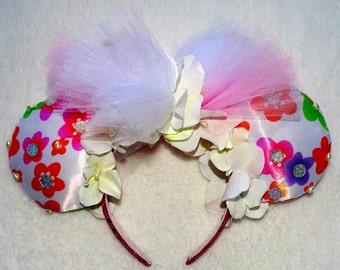 Mickey Mouse Minnie Mouse Headband Ears Cute Summer Flower Girly Headband Ears