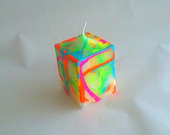 Neon Square Candle Scented Blackberry