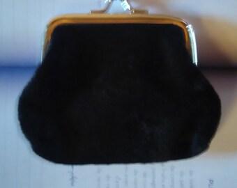 small wallet in black velvet