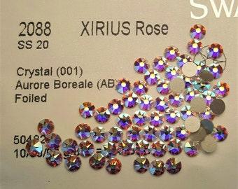 Genuine ss20 Swarovski Crystal AB Flatback Crystals ss20, 5mm, Swarovski Rhinestones(144pcs/pk)