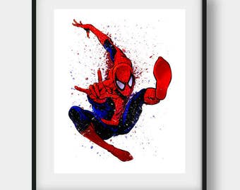 Spiderman Wall Art spiderman wall art spiderman poster superhero art kids room