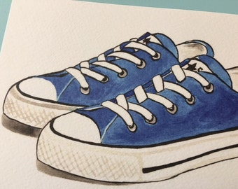 Postcard with illustration of sneakers.