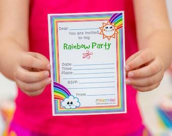 Rainbow Invitations Ready to Send