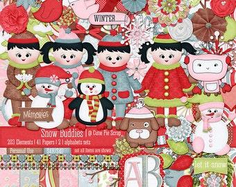 Snow Buddies Digital Scrapbooking Kit,