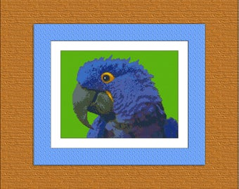 Pattern cross stitch Parrot Instant Download, Cross Stitch Parrot, Needlework Parrot, Needlecraft Parrot, Embroidery Parrot, Digital #015