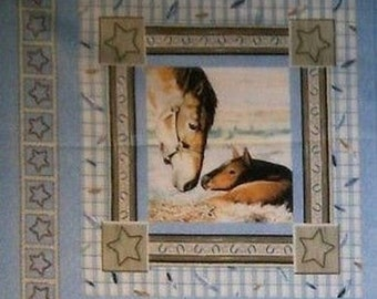 Fabric patchwork/decoration 1 thumbnail HORSES II