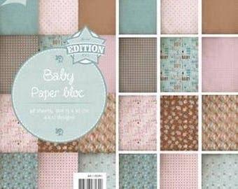 48 papers 15 x 30 cm Joy crafts BABY block