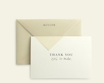 Thank You Card. Minimal / Modern / Typographic / Translucent / Simple / Classic