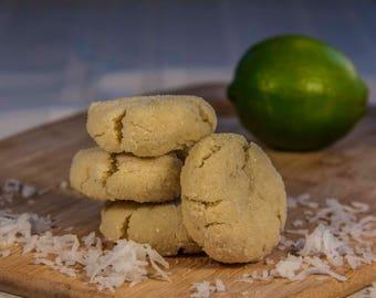 Coconut Lime Sugar Coated Cookies (12 Cookies)
