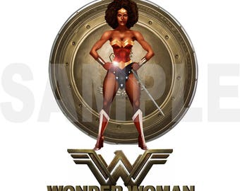 Wonder Woman Iron on Transfer
