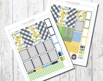 COUNTRY GIRL Weekly Kit / Printable Planner Sticker / Erin Condren.