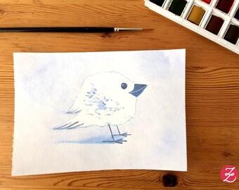Element bird - air - original illustration