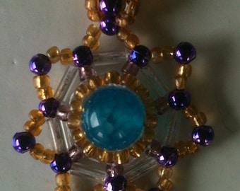 Beaded Starburst Pendant