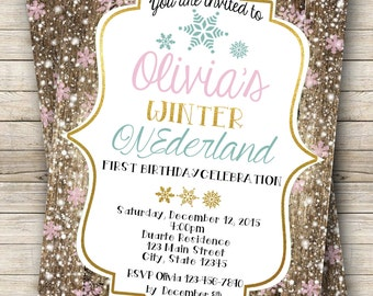 Winter ONEderland First Birthday Digital File