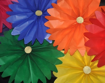 Rainbow Rosettes | Rainbow Party Decorations | Unicorn Party | Pride Party Decorations | Rainbow Brite Party Decor